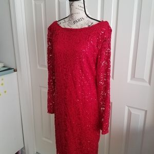 Marina red sequin dress